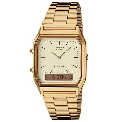 CASIO 金色時尚中性指針錶(AQ-230GA-9D)