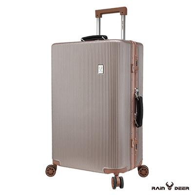 RAIN DEER 20吋秋之旅PC+ABS鋁框行李箱-玫瑰金