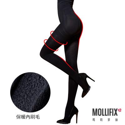Mollifix 踮腳尖急塑保暖收腹褲襪 (黑)