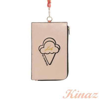 KINAZ 愛情熱度萬用零錢包-玫瑰金-酷甜筒系列