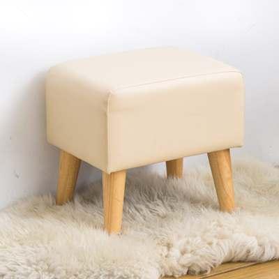 時尚屋 夏洛特長方型米色實木腳椅凳免組裝/免運費/台灣製