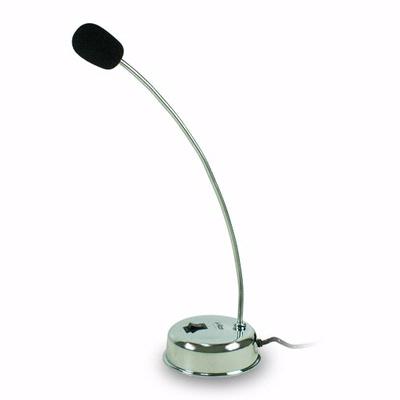 指向性桌上型電容麥克風(銀)