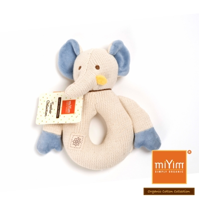 美國miYim有機棉 固齒器-大象