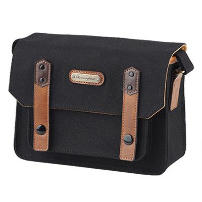 Herringbone-Papaspocket城市口袋Mini系列帆布相機包-沉穩黑