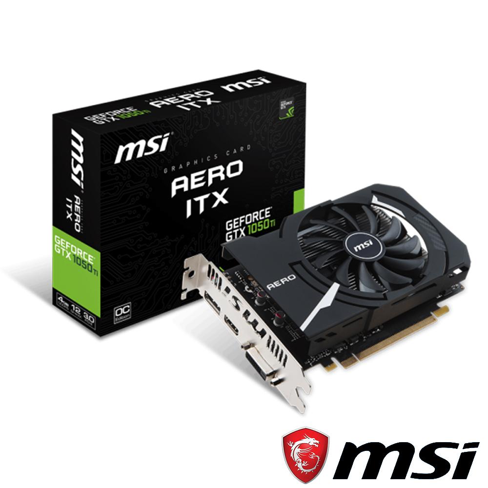 MSI微星 GeForce GTX 1050 Ti AERO 4G OCV1 顯示卡