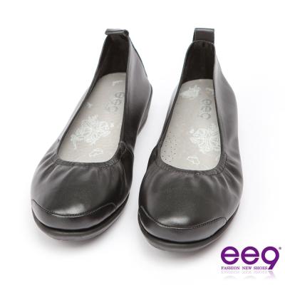 ee9 芯滿益足~通勤私藏經典率性軟牛皮素面百搭跟鞋*黑色