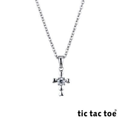 tic tac toe 愛心十字架白鋼女項鍊