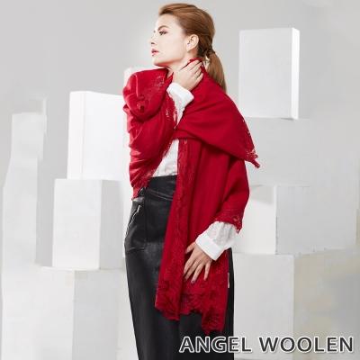 Angel Woolen 東方香調 Pashmina印度手工蕾絲披肩 圍巾