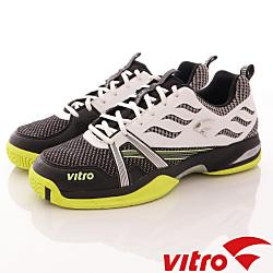 Vitro韓國專業運動品牌-TIGER KNIT頂級專業網球鞋-黑白(男)