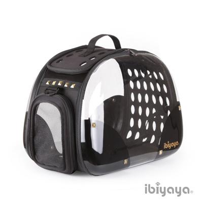 IBIYAYA依比呀呀 FC1220-HR 透明膠囊寵物提包-龐克黑