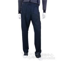BOSS 深藍色仿舊鐵牌飾抓褶休閒長褲