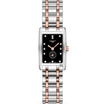 LONGINES浪琴 DolceVita 多情系列小秒針真鑽女錶-20x32mm