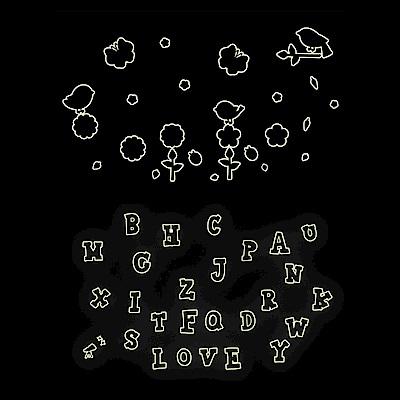 Pond's 夜光壁貼~快樂鳥、英文字母Y0008、01