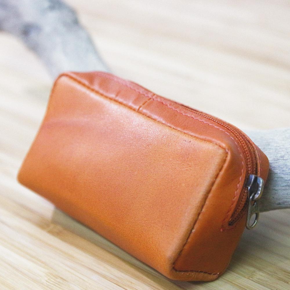 CALTAN - 女用真牛皮小巧立體零錢袋 零錢包 小包 -2101org
