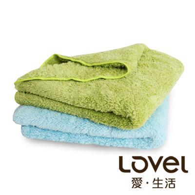LOVEL 7倍強效吸水抗菌超細纖維小浴巾2入組(共9色)