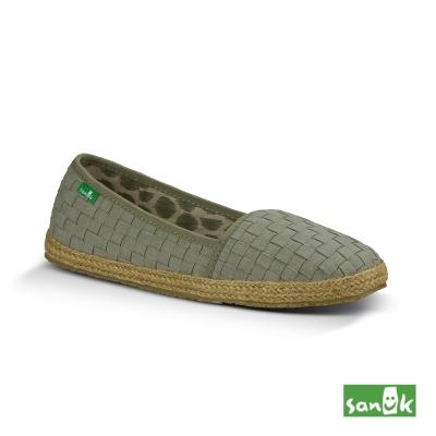 SANUK 編織草編娃娃鞋-女款(草綠色)