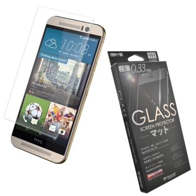 Metal-Slim HTC One(M9) 9H弧邊耐磨防指紋鋼化玻璃保護貼
