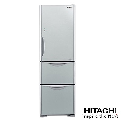 HITACHI日立394公升變頻三門電冰箱-RG4