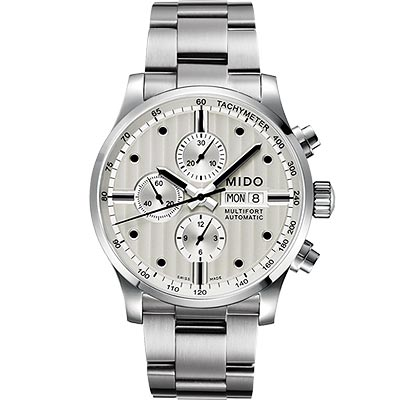 MIDO Multifort Chrono Valijoux計時碼錶-白/44mm