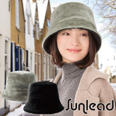 Sunlead 雙面雙色可戴。Fleece保暖防寒刷毛軟帽 (黑色/銀灰)