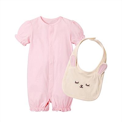 baby童衣 公主袖連身衣 睡袋 附圍兜 80069
