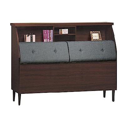 品家居 萊可3.5尺耐磨皮革床頭箱(二色)-108.5x29.5x107.5cm免組