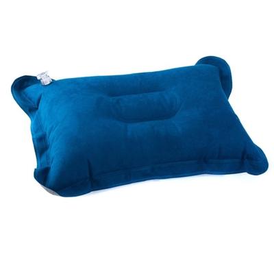 PUSH!登山戶外旅遊用品舒適麂皮絨充氣枕頭