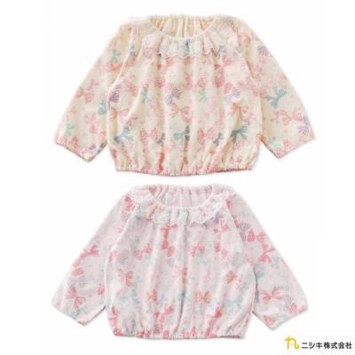 Nishiki 日本株式會社 粉嫩蝴蝶結蕾絲領長袖上衣
