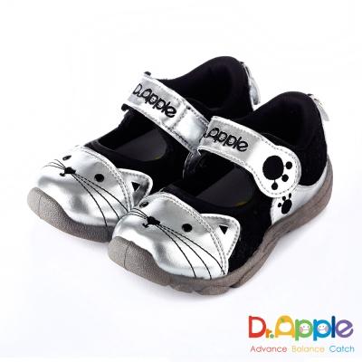 Dr. Apple 機能童鞋 可愛喵咪透氣涼童鞋款  黑