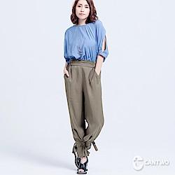 CANTWO設計綁帶雪紡直筒褲(共二色)
