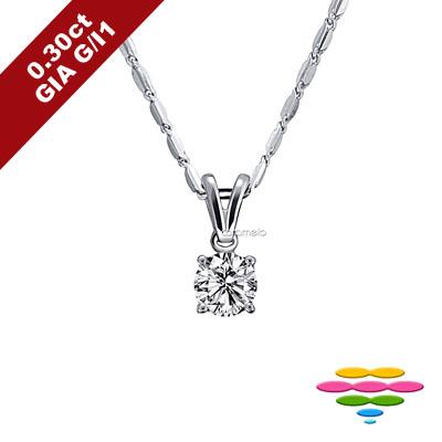 彩糖鑽工坊 GIA鑽石 30分 G/I1 1EX車工 四爪鑽石項鍊