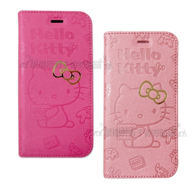HELLO KITTY iPhone 8/iPhone 7 甜心金莎皮套