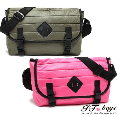 It-Bags暖暖空氣豬鼻大容量實用太空側背包-4色-綠-黑-桃-米