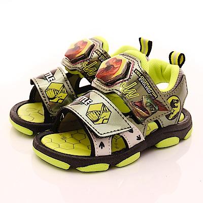 侏羅紀公園童鞋 恐龍電燈涼鞋款 EI3818綠(中小童段)