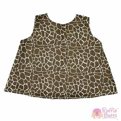 RuffleButts 小女童粉紅長頸鹿紋裙擺衣