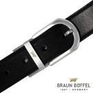 BRAUN BUFFEL - 經典紳士品格穿針式皮帶 - 銀色