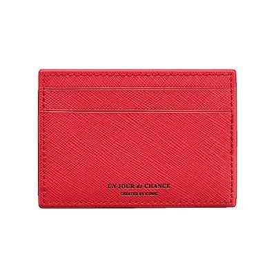 ICONIC Lady經典皮革票卡夾Ver2-經典紅