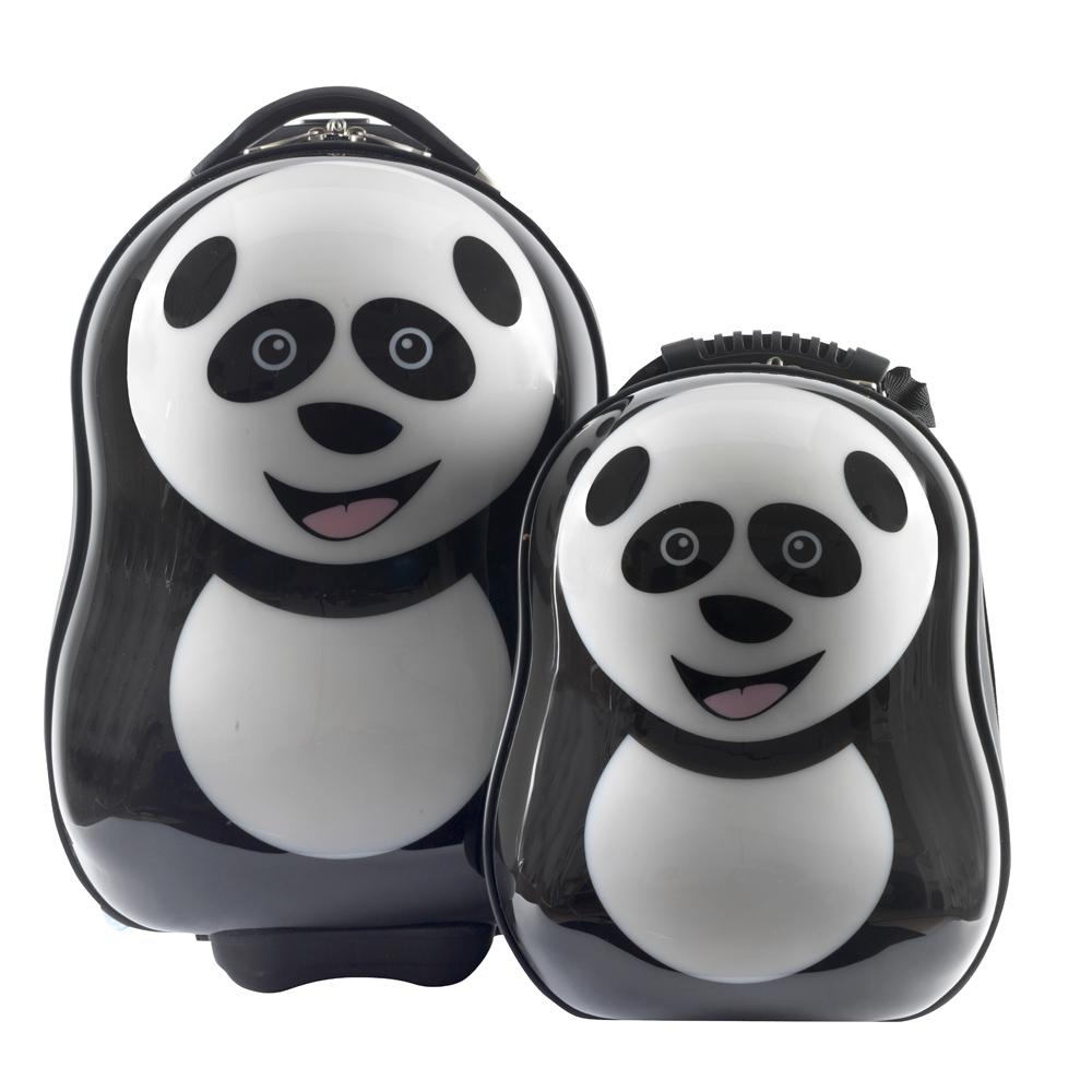英國Cuties & pals 可愛動物旅行背包組-熊貓 CUTIES-002