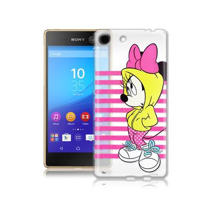 迪士尼SONY Xperia M5 E5653 街頭透明軟式手機殼(帽T米妮)