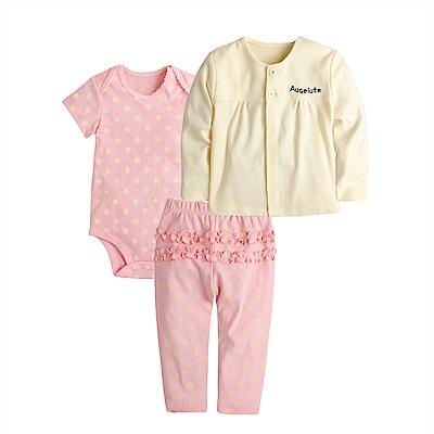 baby童衣 純棉居家服寶寶套裝3件組 80043