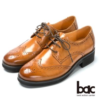 bac英倫學院 率性時尚牛津鞋-棕色