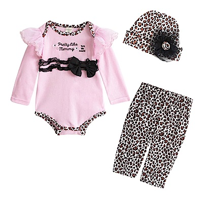 baby童衣 嬰兒套裝 長袖包屁衣 長褲 3件套37291