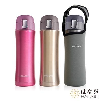 HANABI賀娜 316不鏽鋼安全彈跳保溫瓶600ML 3色