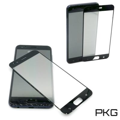 PKG ASUS Zenfone4 MAX ZC554KL保護貼-全滿版玻璃-黑色面板