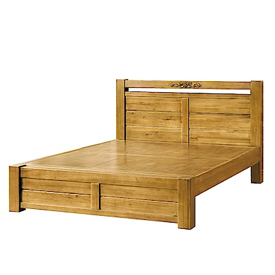 品家居 葛莎6尺實木雙人加大床片床架組合-185x208.5x100cm免組