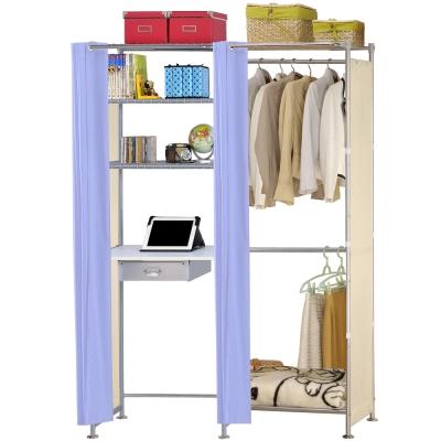 巴塞隆納-W2型60公分+E60公分電腦桌衣櫥架