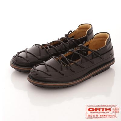 ORIS 女款 純牛皮 淺口經典蟑螂鞋~黑74501