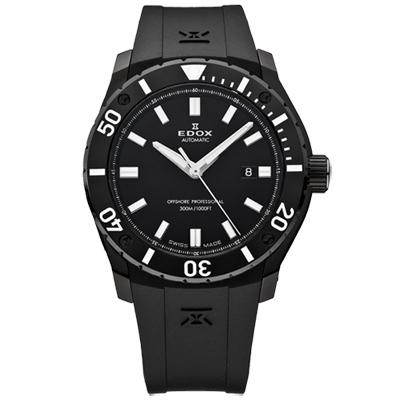 EDOX Professional Class offshor 機械腕錶-黑/42mm