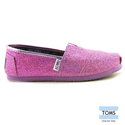 TOMS 絢麗亮片懶人鞋-孩童款(淺紫)