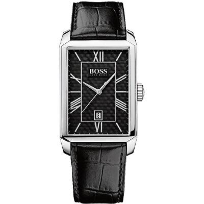 Hugo Boss 簡約羅馬時尚腕錶-黑/31x401mm